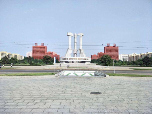 PHOTO: The Monument to Party Founding, Pyongyang, North Korea, May 2018. (Courtesy Alek Sigley)