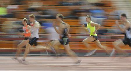 Athletes compete during Russian Indoor Championships 2016 in Moscow