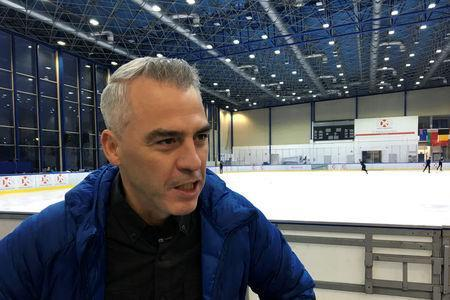 French Canadian coach Bruno Marcotte speaks with Reuters in Warsaw, Poland November 16, 2017. Picture taken November 16, 2017. REUTERS/Lidia Kelly