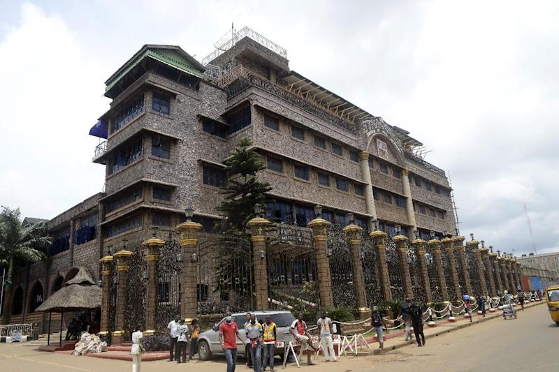 Headquarters of the Synagogue Church of All Nations (SCOAN) in the Ikotun neighborhood in Lagos on September 17, 2014 (AFP Photo/Pius Utomi Ekpei)