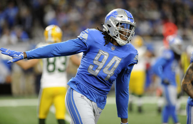 Detroit Lions defensive end Ezekiel Ansah was given the franchise tag by the team. (AP)