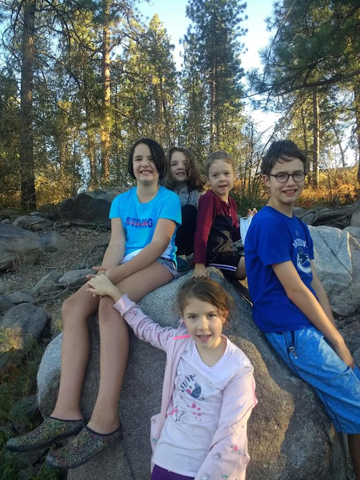 The Graham family has five children, ranging in age from 5 to 10. (Jessica Graham)