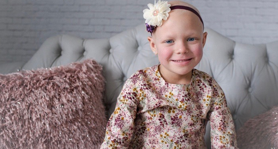 Arden MacPhee, now 6 years old, has battled cancer twice. (Photo courtesy of Tray Sullivan)