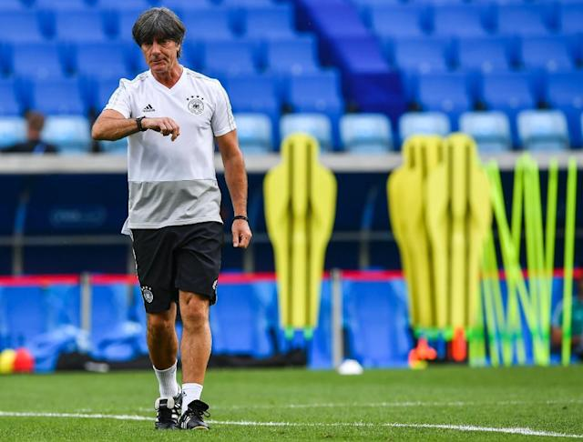 Joachim Loew hopes Germany will click into gear at the World Cup before it's too late (AFP Photo/Nelson Almeida)