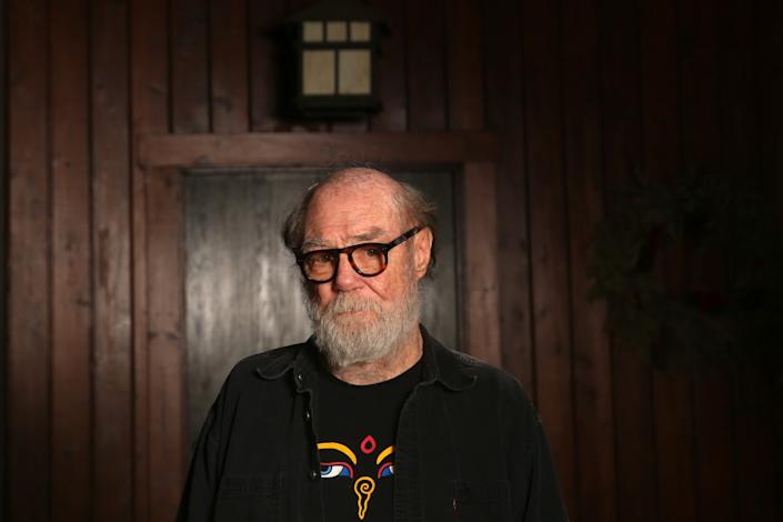 "Paul McCarthy at his home in Altadena in late May. <span class=""copyright"">(Dania Maxwell / Los Angeles Times)</span>"