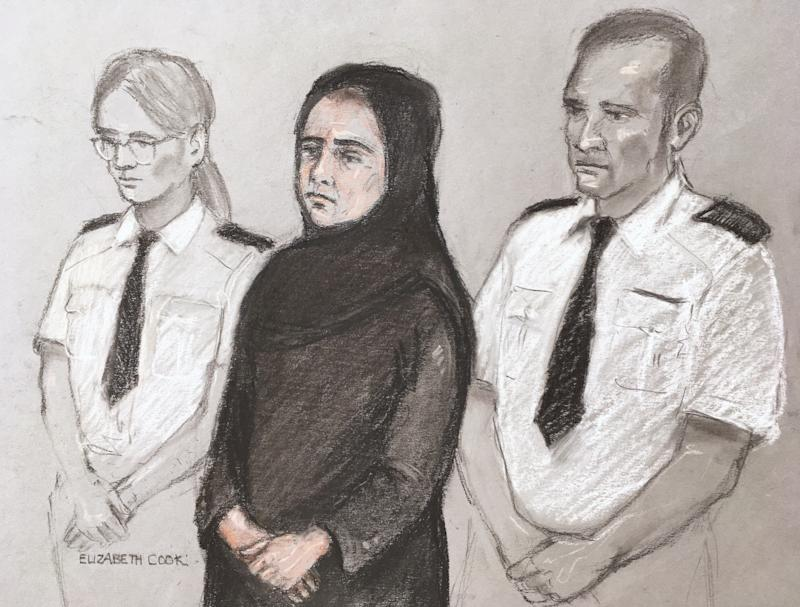 Safiyya Amira Shaikh, 37, of Hayes, West London, appeared at the Old Bailey. (Elizabeth Cook/PA Images)