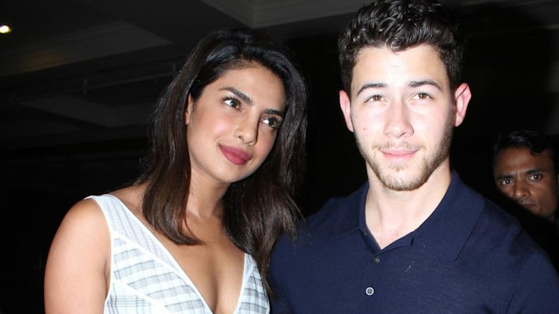 Priyanka Chopra and Fiance Nick Jonas Step Out for Dinner Date in India