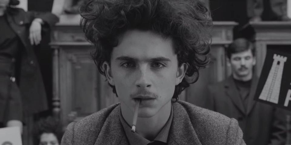 """Timothée Chalamet in """"The French Dispatch."""""""