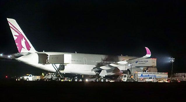 The A350 parked at JFK airport in New York. Source: Supplied.
