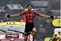 """<p><strong>Who's Winning the Tour?</strong><br></p><p>In the end, Pogačar efforts weren't enough to net him the stage victory—that honor went to Belgium's Dylan Teuns (Bahrain-Victorious)—but it didn't matter; with two weeks left to race, the Tour is clearly Pogačar's to lose. He leads Belgium's Wout van Aert (Jumbo-Visma) by 1:48 and Kazakhstan's Alexey Lutsenko (Astana) by 4:38.</p><p>In addition to winning the stage, Bahrain-Victorious also took control of the Tour's King of the Mountains classification, with Dutchman Wout Poels earning enough points over the day's five categorized climbs to pull on the polka dot jersey as the leader of the competition.</p><p><strong>Who's <em>Not</em> Winning the Tour?</strong></p><p>Um, anyone not named Tadej Pogačar? Seriously, with one attack Pogačar put minutes into his closest rivals, taking the yellow jersey in a style that calls to mind some of the greatest Tour riders in the sport's history. But has he done too much too soon?</p><p>The short answer is: we'll see. His <a href=""""https://www.bicycling.com/tour-de-france/a36790324/2021-tour-de-france-teams/"""" rel=""""nofollow noopener"""" target=""""_blank"""" data-ylk=""""slk:team"""" class=""""link rapid-noclick-resp"""">team</a> isn't the strongest in the race, but with Pogačar enjoying the form of his life and holding a big lead, they don't have to be. Better yet is the fact that many of the riders behind Pogačar on the Tour's General Classification would be thrilled to finish second or third overall, which means they could give-up on chasing down the Slovenian and instead start worrying more about beating one another. Doing so would essentially concede the Tour to Pogačar, making life much easier for the Slovenian and his teammates.</p><p>One rider who's fallen completely out of contention is Welshman Geraint Thomas (INEOS-Grenadiers). Dropped on the final climb near the end of Stage 7, the <a href=""""https://www.bicycling.com/tour-de-france/a22584164/geraint-thomas-alexander-kristoff-stage-21/"""" r"""