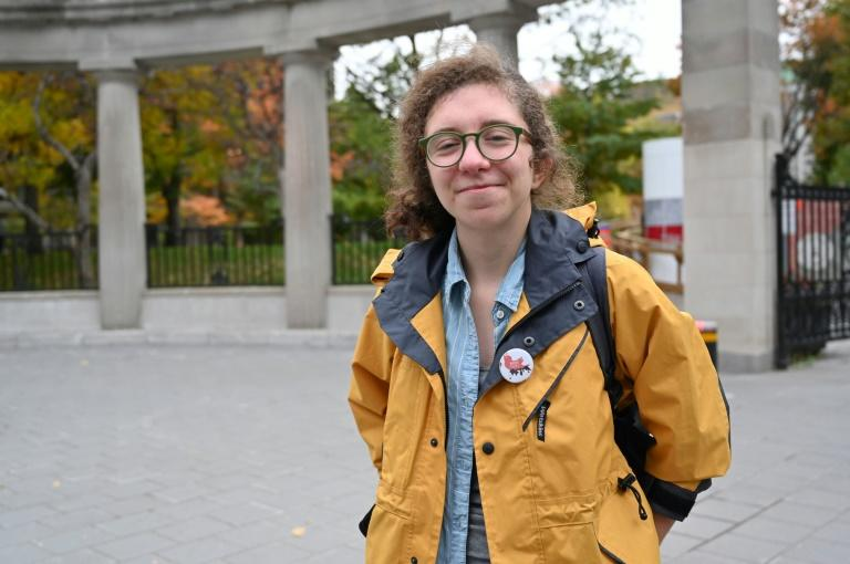 """Buying the Trans Mountain pipeline... was a huge disappointment,"" said Annabelle Couture-Guay of Divest McGill (AFP Photo/Louis BAUDOIN)"
