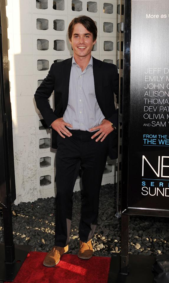 "Thomas Matthews arrives at the Los Angeles premiere of HBO's ""The Newsroom"" at ArcLight Cinemas Cinerama Dome on June 20, 2012 in Hollywood, California."