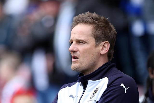 """Soccer Football - League One - Wigan Athletic v AFC Wimbledon - DW Stadium, Wigan, Britain - April 28, 2018 AFC Wimbledon manager Neal Ardley Action Images/John Clifton EDITORIAL USE ONLY. No use with unauthorized audio, video, data, fixture lists, club/league logos or """"live"""" services. Online in-match use limited to 75 images, no video emulation. No use in betting, games or single club/league/player publications. Please contact your account representative for further details."""
