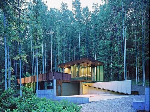 """<b>Appalachian Architecture </b><br> <a href=""""http://homes.yahoo.com/Georgia/Rabun_Gap/10-barkers-creek-ln:9c139cd48106cabc09bad883eee8a188"""" data-ylk=""""slk:10 Barkers Creek Ln, Rabun Gap, GA"""" class=""""link rapid-noclick-resp"""">10 Barkers Creek Ln, Rabun Gap, GA </a><br> For sale: $1.55 million <br><br> Soaring ceilings and glass walls blend the modern structure of this 3-bed home with its surroundings. Situated on 21 acres near national forests, the award-winning retreat is two hours from Atlanta and an hour and a half from Asheville, NC.<br><br> <b>More from Zillow:</b> <br><br> <a href=""""http://www.zillow.com/blog/2012-11-20/house-of-the-week-artist-refuge-in-austin-video/"""" rel=""""nofollow noopener"""" target=""""_blank"""" data-ylk=""""slk:Artist Refuge in Austin (VIDEO)"""" class=""""link rapid-noclick-resp"""">Artist Refuge in Austin (VIDEO)</a><br> <span>30 Inspiring Front Door Designs Hinting Towards a Happy Home </span><br> <a href=""""http://www.zillow.com/blog/2011-12-12/modern-pad-featured-on-modern-family/"""" rel=""""nofollow noopener"""" target=""""_blank"""" data-ylk=""""slk:Modern Pad Featured on 'Modern Family'"""" class=""""link rapid-noclick-resp"""">Modern Pad Featured on 'Modern Family'</a>"""