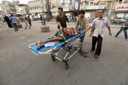 Airstrikes on Yemeni hospital and market kill at least 55