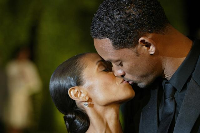 Jada Pinkett Smith, pictured with Will Smith, says she once battled seχ addiction. (Photo by Mark Mainz/Getty Images)