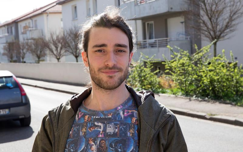 "Alexandre Wierth from Hayange, 27 year-old musicology student mulling voting Front National to"" force a Frexit"" - Credit: Magali Delporte"