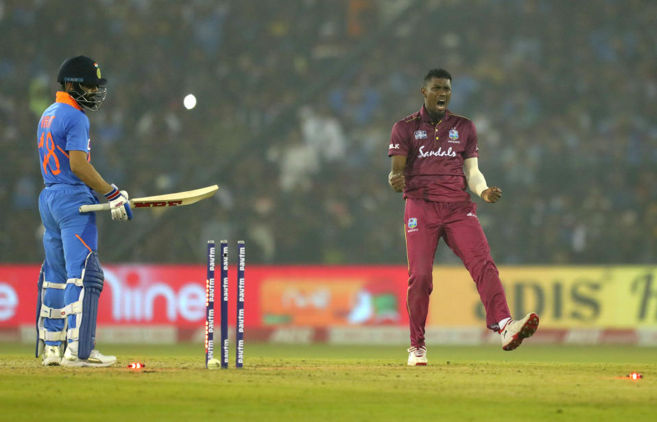 The right arm medium pacer was quite impressive in the recently concluded series against India. His knack of picking regular wickets even after getting hit for runs is what stood out. He will be a bowler to watch out for as West Indies look to revive their golden days in fast bowling.