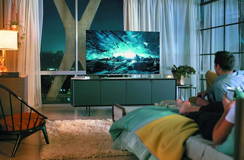 Cozy up to a new 4K TV — you deserve it. (Photo: Walmart)