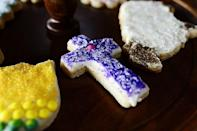 "<p>If you have little ones at home, make these easy cut-out sugar cookies. Create holiday related shapes like crosses, sheep, and butterflies.</p><p><strong><a href=""https://www.thepioneerwoman.com/food-cooking/recipes/a11494/easter-cookies/"" rel=""nofollow noopener"" target=""_blank"" data-ylk=""slk:Get Ree's recipe."" class=""link rapid-noclick-resp"">Get Ree's recipe.</a></strong></p><p><strong><a class=""link rapid-noclick-resp"" href=""https://go.redirectingat.com?id=74968X1596630&url=https%3A%2F%2Fwww.walmart.com%2Fsearch%2F%3Fquery%3Deaster%2Bcookie%2Bcutters&sref=https%3A%2F%2Fwww.thepioneerwoman.com%2Ffood-cooking%2Fmeals-menus%2Fg35408493%2Feaster-desserts%2F"" rel=""nofollow noopener"" target=""_blank"" data-ylk=""slk:SHOP EASTER COOKIE CUTTERS"">SHOP EASTER COOKIE CUTTERS</a><br></strong></p>"