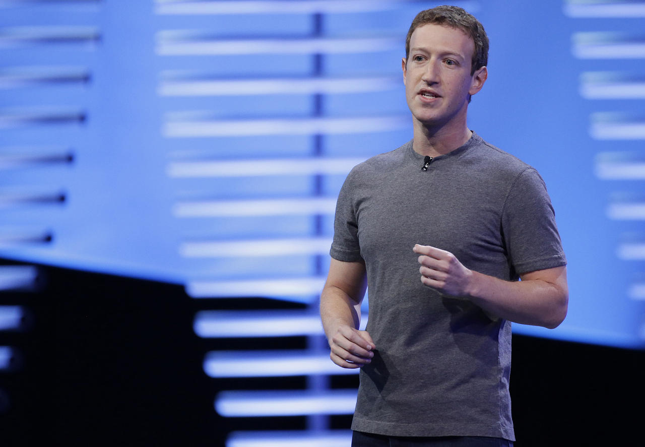FILE - In this April 12, 2016, file photo, Facebook CEO Mark Zuckerberg speaks during the keynote address at the F8 Facebook Developer Conference in San Francisco. Facebook has unwittingly allowed groups backed by the Russian government to target users with ads. That's after it took months to acknowledge its outsized role in influencing the U.S. election by allowing for the spread of fake news. Now it is under siege, facing questions from lawmakers and others seeking to rein in its enormous power and demand more transparency. (AP Photo/Eric Risberg, File)