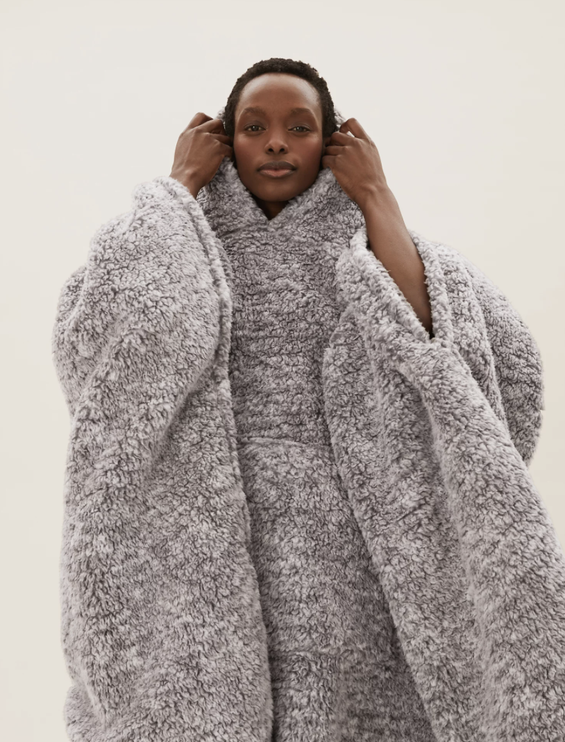 The cosy blanket is just what we need this autumn. (Marks & Spencer)
