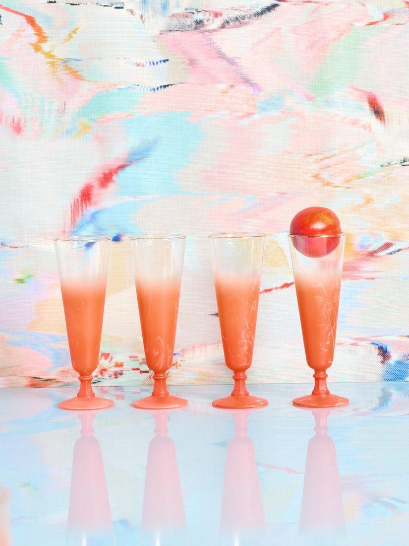 <p>Happy hour anyone? The <span>Vintage Glassware</span> ($15 each) is sure to deliver good times. Get it for the next house party. We love the retro look and bright pop of color.</p>
