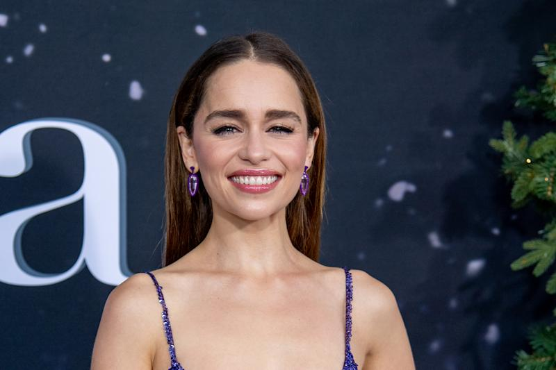 "NEW YORK, NEW YORK - OCTOBER 29: Emilia Clarke attends the ""Last Christmas"" New York Premiere at AMC Lincoln Square Theater on October 29, 2019 in New York City. (Photo by Roy Rochlin/Getty Images)"