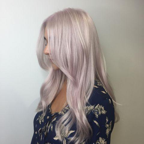 """<p>It may require a full head of bleach, but it's worth it for this pearlescent result. </p><p><a href=""""https://www.instagram.com/p/BnLrxJNA-IV/"""" rel=""""nofollow noopener"""" target=""""_blank"""" data-ylk=""""slk:See the original post on Instagram"""" class=""""link rapid-noclick-resp"""">See the original post on Instagram</a></p>"""