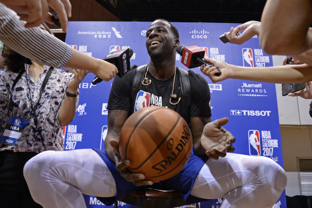 "<a class=""link rapid-noclick-resp"" href=""/nba/players/5069/"" data-ylk=""slk:Draymond Green"">Draymond Green</a> certainly isn't afraid to speak his mind. (Getty)"