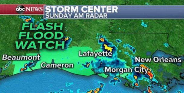 PHOTO: A disturbance in the Gulf is threatening the coast with heavy rains and possible flash floods. (ABC News)