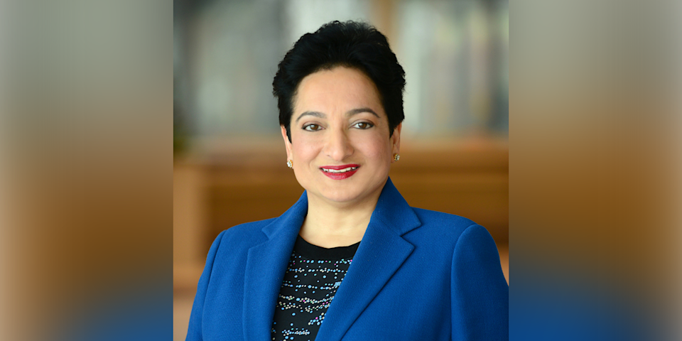 57) Shamina Singh, Founder and President, Mastercard Center for Inclusive Growth, Mastercard. Photo: Mastercard
