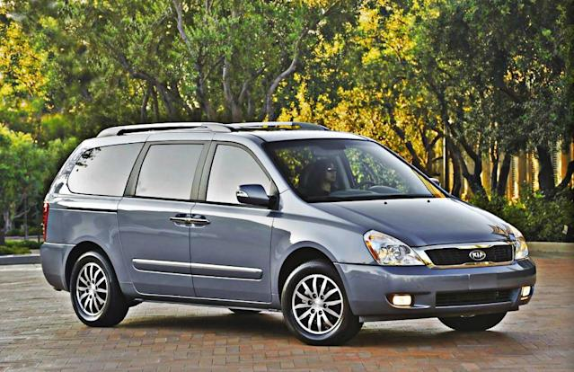 """<b>Worst Minivan - <a href=""""http://autos.yahoo.com/kia/sedona/"""" data-ylk=""""slk:2014 Kia Sedona"""" class=""""link rapid-noclick-resp"""">2014 Kia Sedona</a></b>: The Kia Sedona went away for 2013 but will be resurrected for 2014. Unfortunately for minivan buyers, it didn't really change in the process and is very much the same van that was introduced for 2006. Back then and in the subsequent model years, the Sedona was a smart alternative to the class-leading Honda Odyssey and Toyota Sienna, while a clear step above Chrysler's vans. The Sedona offered loads of features for the money, a generous warranty, competitive interior space and commendable driving manners.<br><br>Those same virtues remain, but the minivan segment has moved forward with fresher designs, added features, more refinement and better fuel economy. Today's Odyssey and Sienna, plus the Nissan Quest and the heavily improved Chrysler Town & Country and Dodge Caravan, are ultimately stronger choices."""
