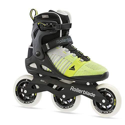 """<p><strong>Rollerblade</strong></p><p>amazon.com</p><p><strong>$1170.81</strong></p><p><a href=""""https://www.amazon.com/dp/B08BXN9W2H?tag=syn-yahoo-20&ascsubtag=%5Bartid%7C2139.g.34587394%5Bsrc%7Cyahoo-us"""" rel=""""nofollow noopener"""" target=""""_blank"""" data-ylk=""""slk:Shop Now"""" class=""""link rapid-noclick-resp"""">Shop Now</a></p><p>You don't normally see a three-wheel rollerblade on a beginner-friendly boot. We say beginner because of the stable design and back break, but they actually perform like a pro. Three-wheel drive allows for faster skating, while the higher boot makes you feel secure. These in particular have a sneaker-like footbed, so you'll feel right at home.</p>"""