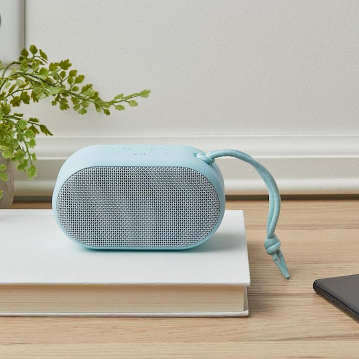 <p>The <span>onn. Small Rugged Portable Bluetooth Speaker</span> ($15) is perfect for your summer adventures. It's waterproof and has upto eight hours of playtime. It even has LED lights that change according to the beat. </p>