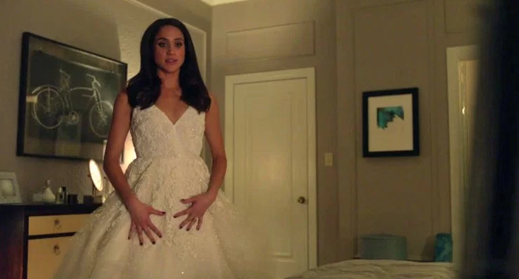 We've seen Rachel in a wedding dress already. Does this mean they'll definitely tie-the-knot? Source: USA Network