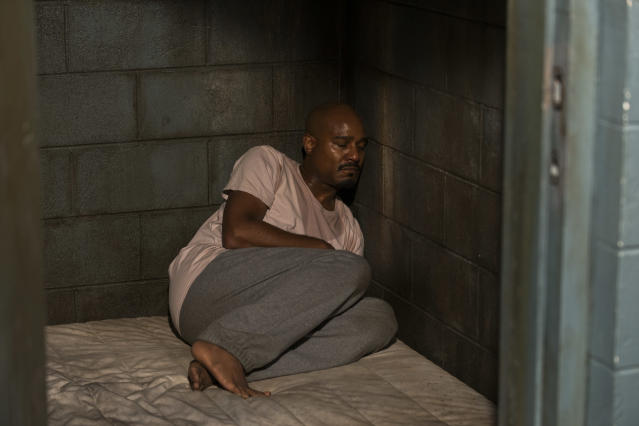 <p>Seth Gilliam as Father Gabriel Stokes in AMC's <i>The Walking Dead.<br> (Photo: Gene Page/AMC)</i> </p>
