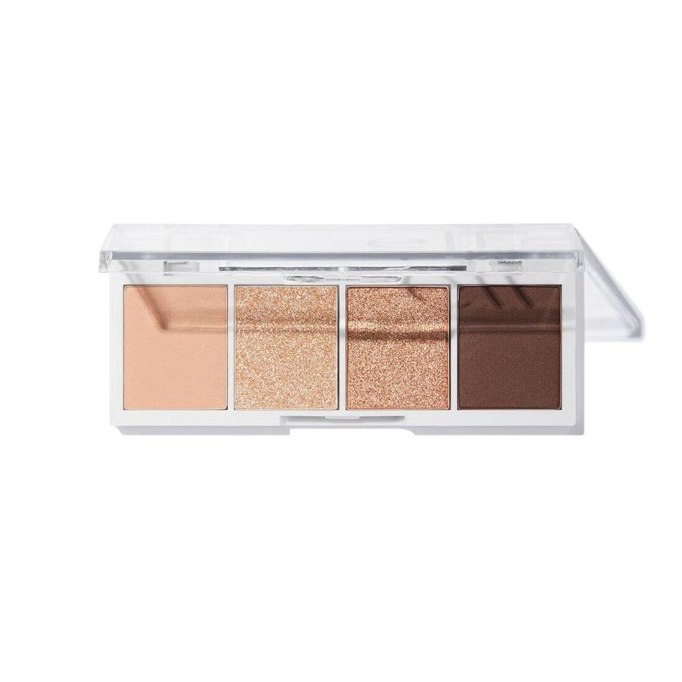 """<p>Available in eight different shade options, E.L.F.'s Bite Size Eye Shadow Palettes make creating a put-together eye look easy as pie. The quad shown here is cream & sugar and contains a combination of neutral shimmery and matte shades that work on almost every skin tone. Plus, the formula of these shadows is über-opaque, yet also so easy to blend.</p> <p><strong>$3</strong> (<a href=""""https://www.elfcosmetics.com/bite-size-eyeshadow/300165.html"""" rel=""""nofollow noopener"""" target=""""_blank"""" data-ylk=""""slk:Shop Now"""" class=""""link rapid-noclick-resp"""">Shop Now</a>)</p>"""