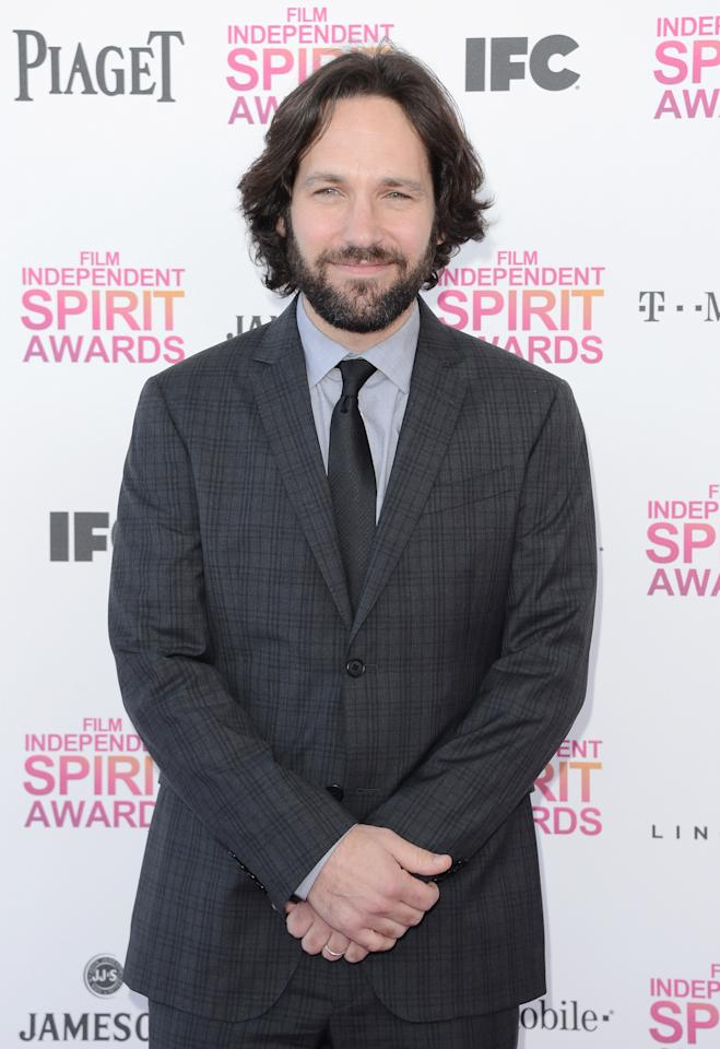 SANTA MONICA, CA - FEBRUARY 23:  Actor Paul Rudd attends the 2013 Film Independent Spirit Awards at Santa Monica Beach on February 23, 2013 in Santa Monica, California.  (Photo by Jason Merritt/Getty Images)