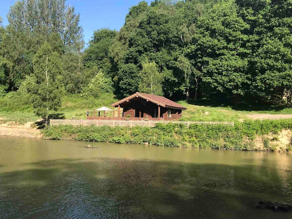 """<strong><a href=""""http://airbnb.pvxt.net/VyykAa"""" rel=""""nofollow noopener"""" target=""""_blank"""" data-ylk=""""slk:Traditional Log Cabin, Kent"""" class=""""link rapid-noclick-resp"""">Traditional Log Cabin, Kent </a></strong><br><br>Perched on a private lake near Royal Tunbridge Wells, this traditional log cabin has its own kitchen, bathroom and outdoor seating area. It's a great spot for glimpsing local wildlife including deer and the lake's resident kingfisher.<br><br><em>From £100 per night</em>"""