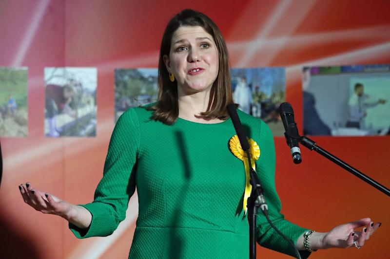Lib Dem leader Jo Swinson speaks as she loses her East Dumbartonshire constituency in the 2019 General Election, during the count at the Leisuredome, Bishopbriggs.