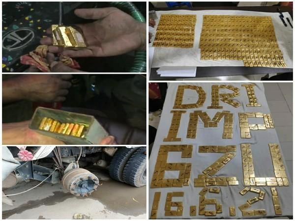 Gold biscuits that were seized form two people who were arrested by DRI