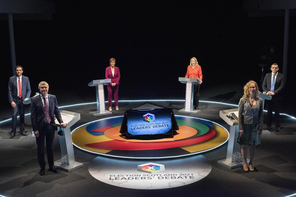 The first leaders' debate of the election campaign took place earlier this week (BBC Scotland/Kirsty Anderson/PA)