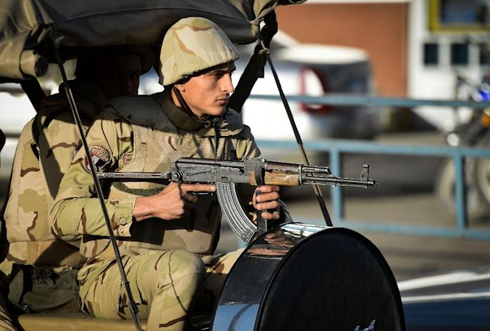 Egypt's military is battling a local affiliate of IS which has waged a deadly insurgency in the northern Sinai that has killed hundreds of members of the security forces (AFP Photo/MOHAMED EL-SHAHED)