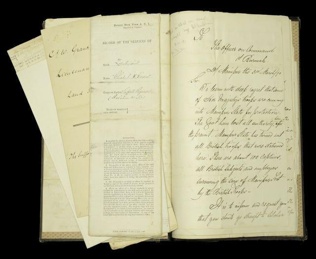 Associated documents of Colonel Charles Grant