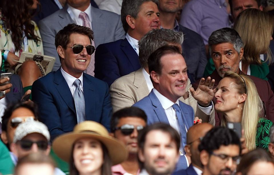 Tom Cruise returned to the Wimbledon stands for the men' singles final (John Walton/PA) (PA Wire)