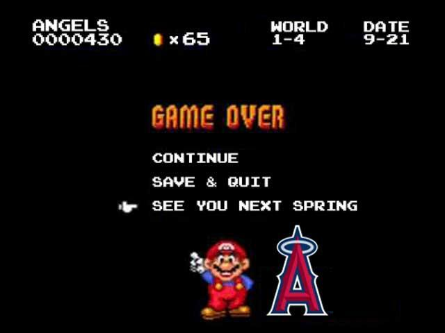 Despite the presence of Mike Trout, The Angels' season couldn't get past level four.