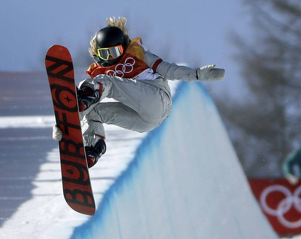 A radio host made an inappropriate comment about 17-year-old Olympic gold medalist Chloe Kim. (AP Photo/Gregory Bull)