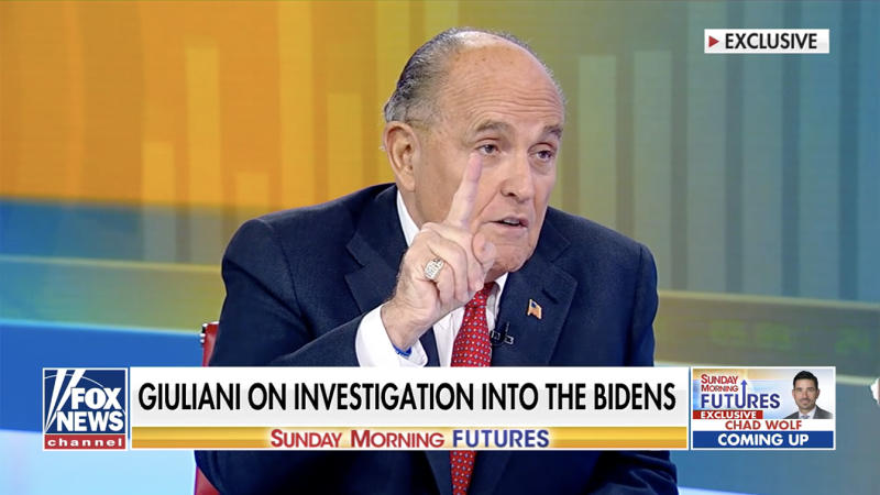 Rudy Giuliani on 'Sunday Morning Futures with Maria Bartiromo' on Sunday, February 9, 2020. (FoxNews)