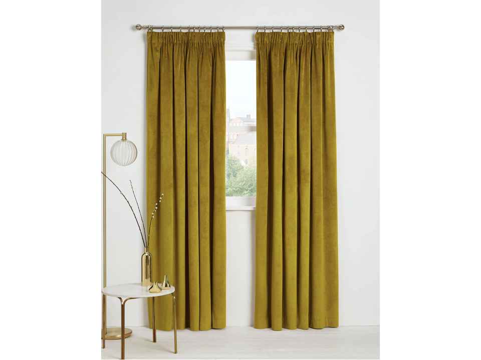 These velvet curtains come in a range of coloursJohn Lewis & Partners